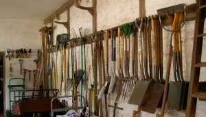 Tools in the potting shed
